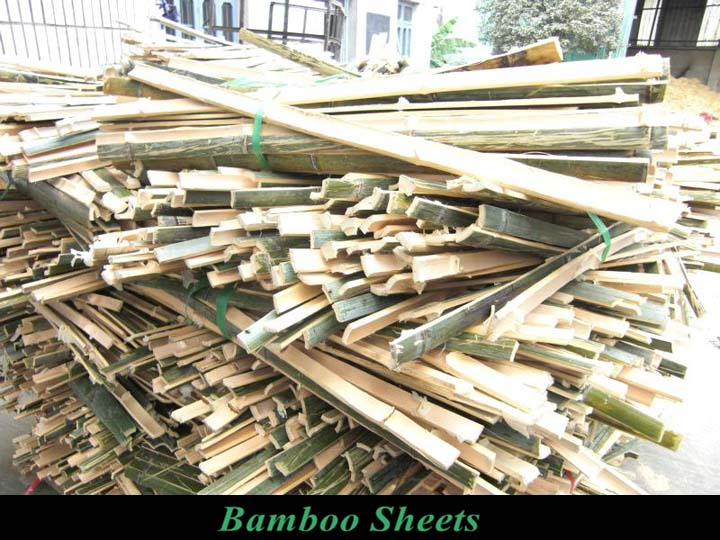bamboo sheets made by the bamboo slicer