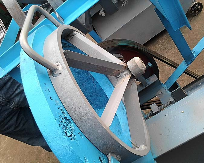 details of the electric bamboo slicer