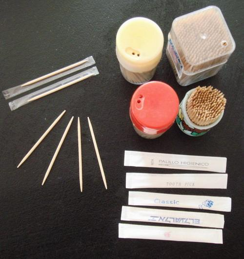 various toothpicks made by toothpick making machine