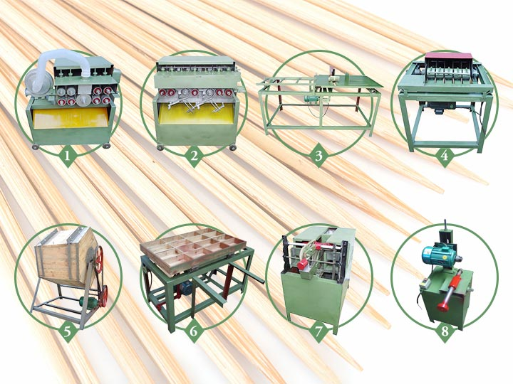 Commercial wood toothpick production line