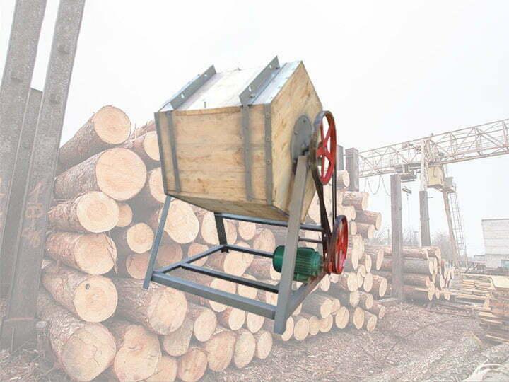 Wood sticks polishing machine