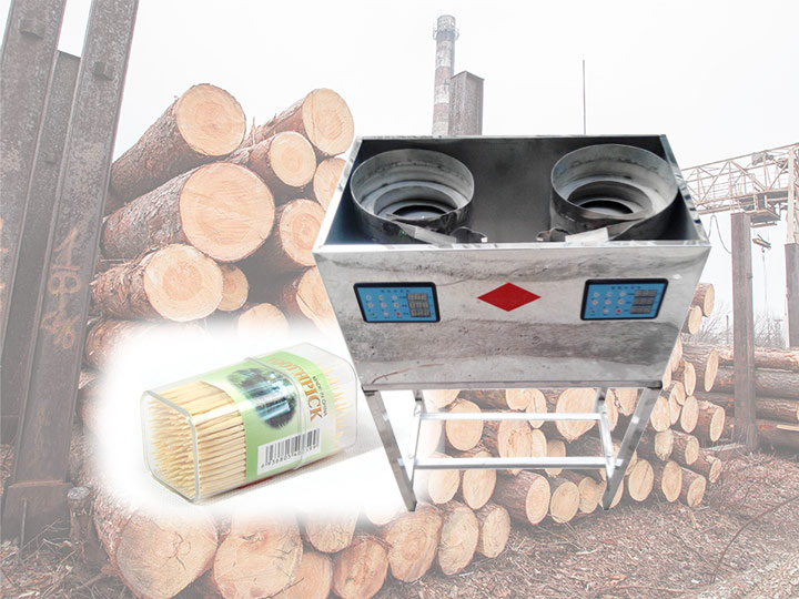 Wood toothpicks packaging machine
